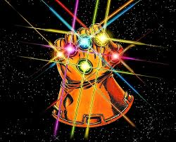 Infinity Gauntlet image via Marvel.  I guess there are six gems.
