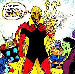 Adam Warlock image via Marvel.  Literally nobody cares about this guy except Jim Starlin.