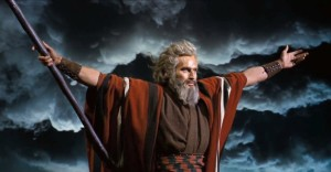Even though they ended up re-using footage from The Ten Commandments, Charlton still grew his beard back on set.