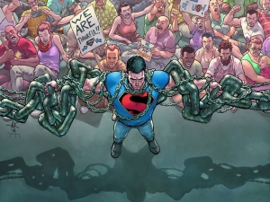 Is there anything more Superman and more American Way than defending the rights of protesters?