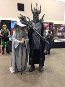 Gandolph and Sauron