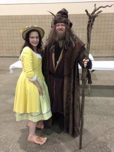 A hobbit and Radagast