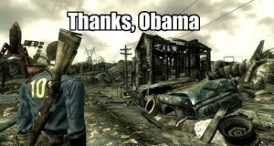 Democratic presidents average two Fallout games to every one under a Republican president.  So, seriously, thanks Obama!